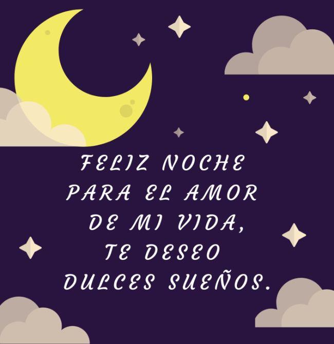 palabras de feliz noche amor